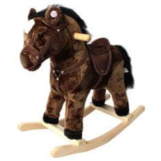 MGM plyšový houpací kůň - tmavě hnědý