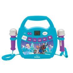 Lexibook karaoke reproduktor se dvěma mikrofony a motivem Frozen