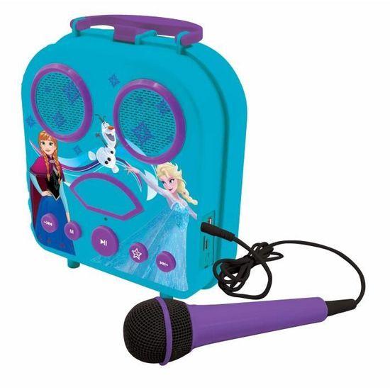 Lexibook karaoke reproduktor s mikrofonem a motivem Frozen