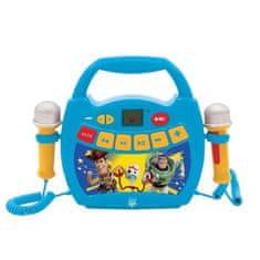 Lexibook karaoke reproduktor se dvěma mikrofony a motivem Toy Story