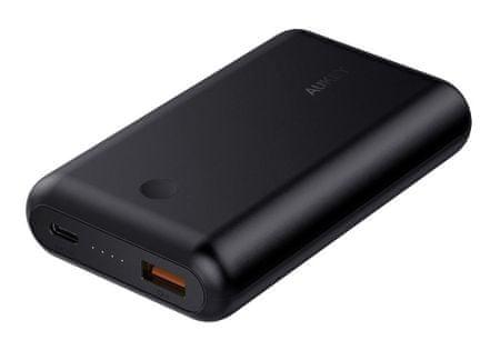 Aukey Force Series powerbank s priključkom USB-C i USB 3.0, Quick Charge 3.0, 10.050 mAh, crna (LLTS179136)
