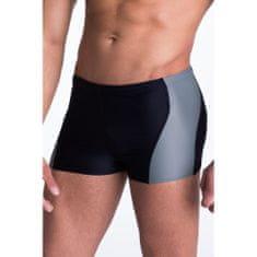 PRIMO Pánské plavky boxerky Mike s šedým pruhem