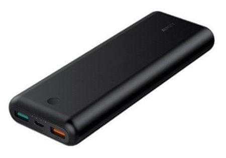 Aukey Force Series powerbank s priključkom USB-C i USB 3.0, Quick Charge 3.0, 20.100 mAh, crna (LLTS179136)