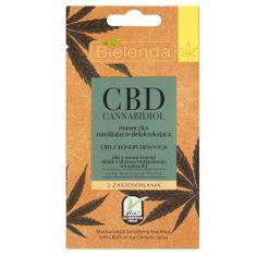 Bielenda Prof. Hydratační a detoxikační maska pro smíšenou a mastnou pleť CBD Cannabidiol (Face Mask Moisturizing &