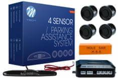 M-Tech parkirni senzori, 4-točkovni, digitalni zaslon, alarm