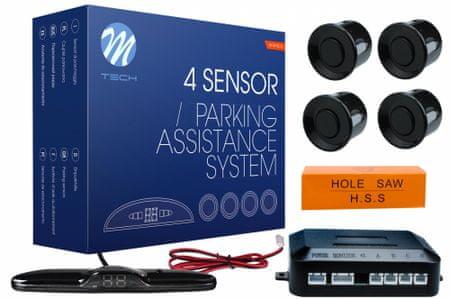 M-Tech parkirni senzorji, 4 točkovni, digitalni zaslon, piskač