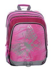 Bagmaster Školní dívčí batoh pro prvňáčky S1A 0115 A PINK Motýl