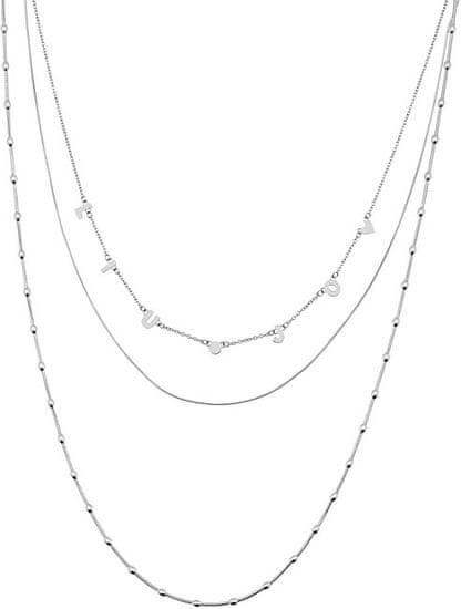 Liu Jo Trojitý náhrdelník z ocele LJ1422