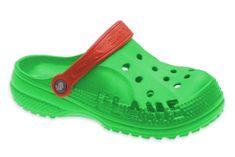 Dětské clogsy FLAMEshoes D-3006 zeleno-červené