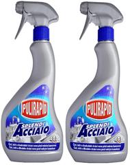 Madel Pulirapid 2 x Splendi Acciato 500 ml pumpička nerez