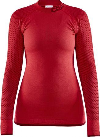 Craft Warm Intensity ženska funkcionalna majica, rdeča, XS
