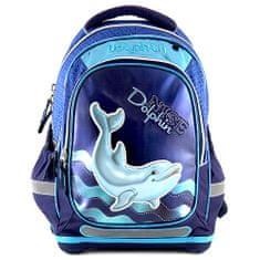 Target Školský plecniak Dolphin, modrý