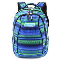 Target Šolski nahrbtnik 2in1 , Zeleno-modra z vzorcem