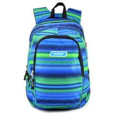 Target Ciljni nahrbtnik za učence, Zeleno-modra z vzorcem