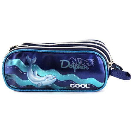 Target Docelowy piórnik szkolny, Delfin NICE, kolor niebieski