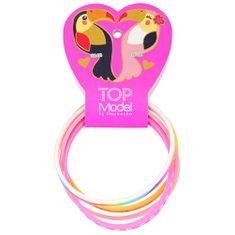 Top Model Náramky Top Model ASST, Happy, ružový, fialový, biely, oranžový