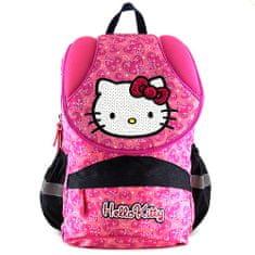 Hello Kitty Školní batoh , růžový se srdíčky
