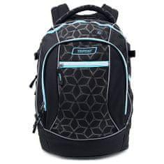 Target Ciljni nahrbtnik za učence, Modro-črna z vzorci