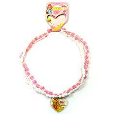 Winx Club Náhrdelník , Náhrdelník 14 korálky Stella světle růžová