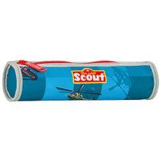 Scout Školní penál , kulatý, motiv vrtulník, Basic