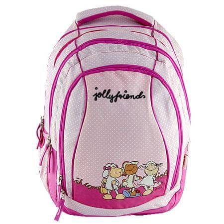 Nici Školní batoh 2v1 , růžový, tři ovečky