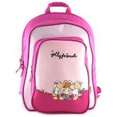 NICI iskolai hátizsák, rózsaszín, három juhocska