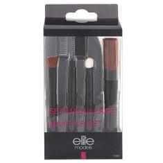 Elite Models Sada na make-up , 4x štěteček + penál