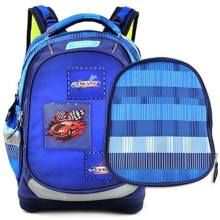 Target Cél iskolai hátizsák, Versenyautó, kék