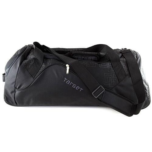 Target Cestovná taška Target, čierna so sivými ornamentami, na kolieskach