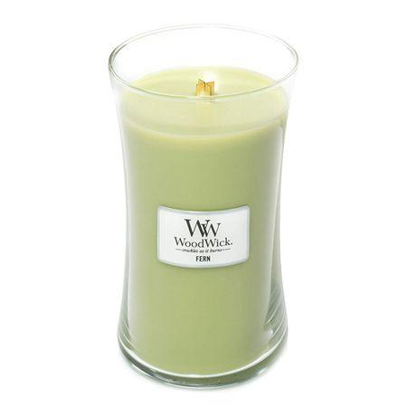 Woodwick Sviečka oválna váza WoodWick, Papraď, 609.5 g