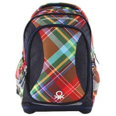 Target Ciljni nahrbtnik šole, Benetton, barva temno modra