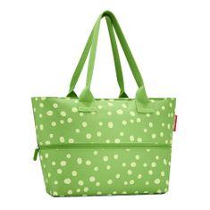 Reisenthel Nákupní taška , Zelená s puntíky | shopper e1