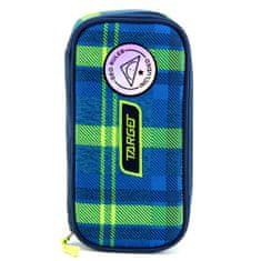 Target Školský peračník bez náplne Target, Compact Geo, s pravítkom, kockovaný, modro/zelený