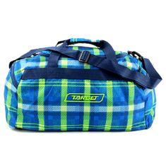 Target Cestovná taška Target, Kockovaná, modro/zelená