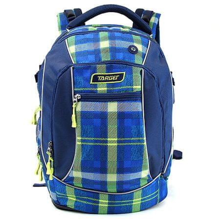 Target Plecak docelowy dla studentów, W kratkę, zielono-niebieski