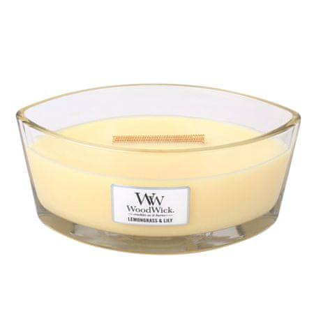 Woodwick Świeca ozdobny wazon WoodWick, Trawa cytrynowa i lilia, 453,6 g
