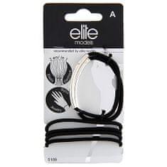Elite Models Gumis karkötők 2 az 1-ben , 6 db, fekete-ezüst, átmérő 6,5 cm