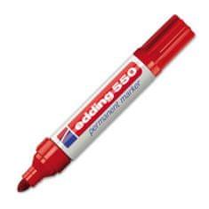 Edding Permanentní popisovač , 550, 3-4 mm, červený