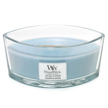 Woodwick Świeca ozdobny wazon , Sól morska i bawełna, 453,6 g