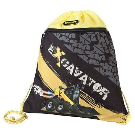Target Ciljna športna torba, Bager, rumeno-črn