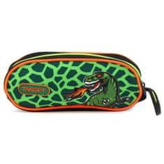 Target Školní penál , T-Rex, jednoduchý, zelený