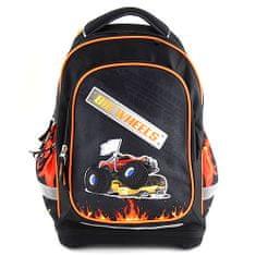 Target Ciljni nahrbtnik šole, Velika kolesa, barva črna