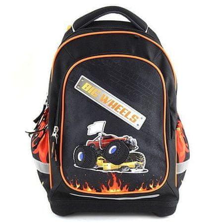 Target Cél iskolai hátizsák, Nagykerekek, fekete színű