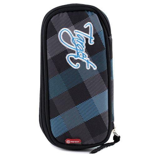 Target Školní penál , modro-černé kostky