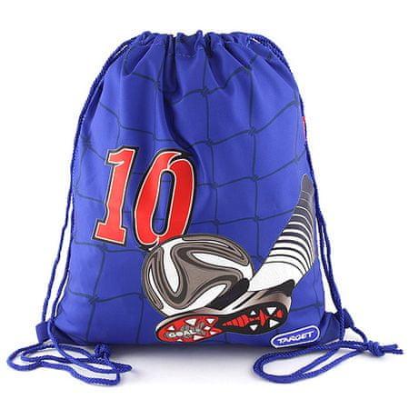 Target Ciljna športna torba, Cilj 10, nogometni čevelj z žogo, modre barve