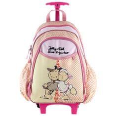 NICI Hátizsák trolley mini , rózsaszín-sárga, két juhocska