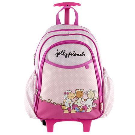 NICI Mini nahrbtnik voziček , vijolično-roza, tri ovce