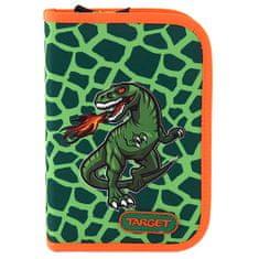 Target Školní penál s náplní , T-Rex - zelená