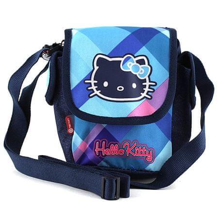 Hello Kitty Torba na ramię , niebieskie kostki