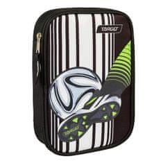 Target Školský peračník s náplňou , Futbal, jednoposchodový, čierno/biely